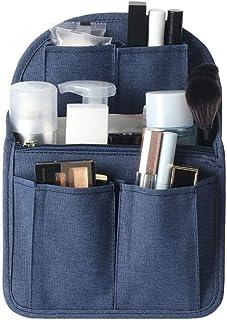 MiYU バッグインバッグ リュック 縦 a4 インナーバッグ リュック バッグ インナーポケット 収納バッグ 軽量 メイクバッグ 自立 ポケット 小さめ リュックサック 大容量 オーガナイザー 収納 化粧品 ザーインサート 防水 ネイビーブルー