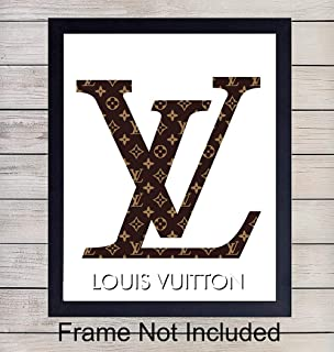 Louis Vuitton Logo Unframed Wall Art Print - Makes a Great Gift for Fashion Lovers and Designers - Perfect for Bedroom, Living Room, Office - Chic Home Decor - Ready to Frame (8x10) Vintage Photo