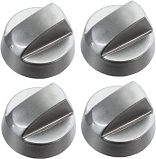 Spares2go Hob Control Knob Switch for Indesit Oven Cooker (Pack of 4, Chrome / Silver)