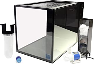 Innovative Marine Nuvo Fusion Peninsula PRO 14 Gallon All in One Aquarium with Mighty Jet DC Return Pump, Custom Caddy (Media Included), Filter Sock, Leveling Mat, Assembled Mesh Screen, MicroMag