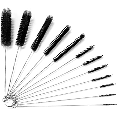 Straw Brush Nylon Cleaner Bottle Tube Pipe Small Long Cleaning Tool SH