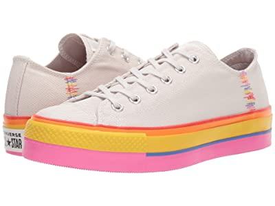 Converse Chuck Taylor All Star Lift Rainbow Ox (Vintage White/Pale Putty/Vintage White) Women