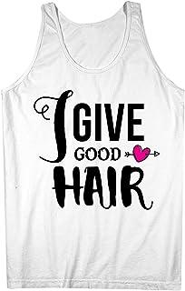 I Give Good Hair Barber Hairdresser 男性用 Tank Top Sleeveless Shirt
