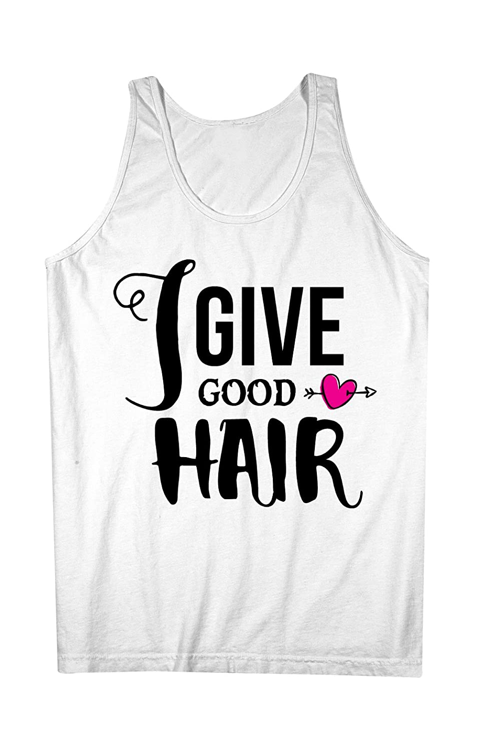 I Give Good Hair Barber Hairdresser 男性用 Tank Top Sleeveless Shirt