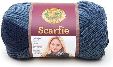 Lion Brand Yarn 826–200scarfie Hilo, Azul Oscuro (Denim/Navy), 1