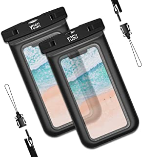 f4660840f8c YOSH Funda Impermeable Móvil, Universal Funda Móvil Impermeable 2 Unidades,  IPX8 Funda Bolsa Impermeable para iPhone X 8 7 6S 6 Samsung S8 S9 Huawei  P20 P10 ...