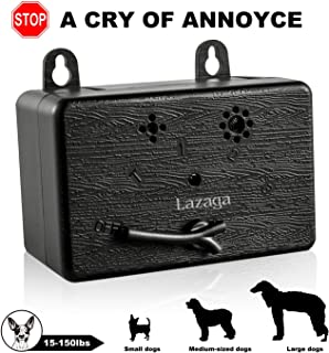 Lazaga Mini Dog Bark Control Device, Outdoor Anti Barking Ultrasonic Dog Bark Control Sonic Bark Deterrents Silencer Stop Barking Bark Stop Repeller, No Bark Tool