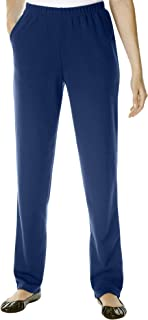 Women's Plus Size Petite Straight Leg Ponte Knit Pant