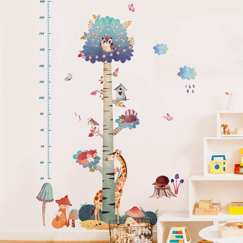 Pegatinas Pared Gr/áfico de Crecimiento Ni/ños Medidores Infantiles para Decoraci/ón Habitaci/ón Bebe Ni/ña HuaHong Medidor de Altura Infantil Color : Tree