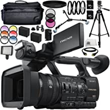 Sony HXR-NX5R NXCAM Professional Camcorder 16PC Accessory Bundle - Includes Includes 2X 64GB SD Memory Cards + 2 Replacement Batteries + More