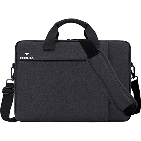 Tabelito Office Laptop Bags Briefcase 15.6 Inch for Women and Men (Black)