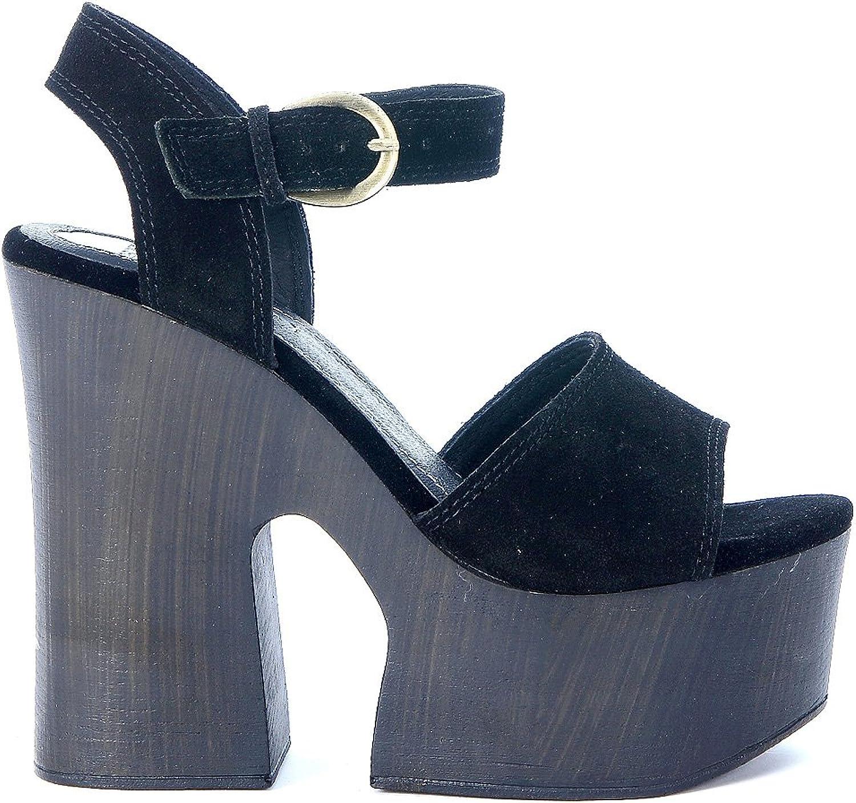 Windsor Smith Women's Jade Black Suede Sandal