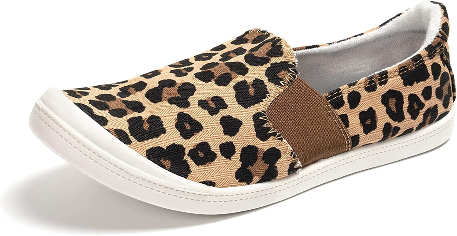 FUNKYMONKEY Women's Columbus A surprise price is realized Mall Canvas Slip On Shoes Casual Comfort Flats Sn