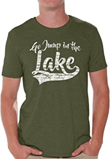 Awkward Styles Men`s Go Jump in The Lake Hilarious T Shirts Tops White