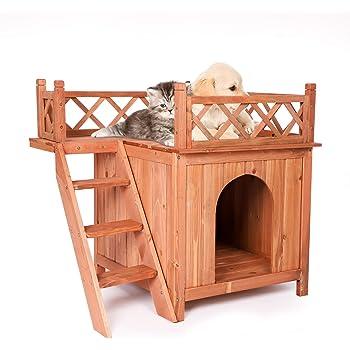 Koreyosh Small Pet Cage Pet House Pet Play House, Fir Wood