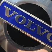 Oem Vl Set Aus 4 Felgendeckeln 30666913 3546923 8646379 Schwarz Blau Mit Logo 64 Mm Auto