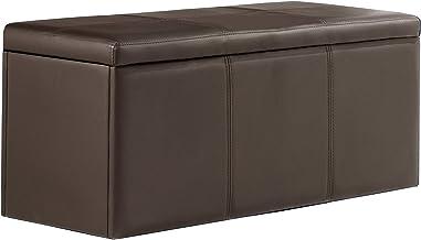 Adec - Baul tapizado Universal, Medidas 90 x 40 x 40 cm, Color Chocolate