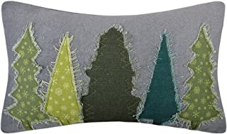 KXB Handmade Throw Pillow Covers Trees Decorative Cushion Covers Applique Pillowslips Rectangular Pillowcases Home Bed Sofa Room Decor 12 x 20 Grey