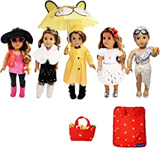Weardoll 18 Inch Doll Clothes And Accessories Fits American Girl Doll Clothes - 33 Items Doll Clothes And Doll Accessories...