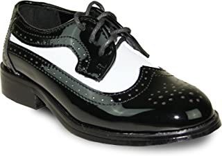 Boy Dress Shoe JY03KID Wing Tip Two-Tone Tuxedo for Wedding, Prom and Formal Event