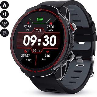 JessFash Reloj Inteligente Rastreador de Ejercicios Pantalla táctil Completa de Reloj de Pulsera Bluetooth Reloj Deportivo GPS a Prueba de Agua Monitores de frecuencia cardíaca Podómetro