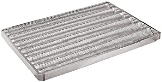 Paderno World Cuisine 25 1/2 Inch by 17 Inch 6 Baguette Perforated Aluminum Pan