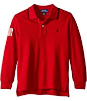 Polo Ralph Lauren Kids - Cotton Mesh Long Sleeve Polo (Toddler)