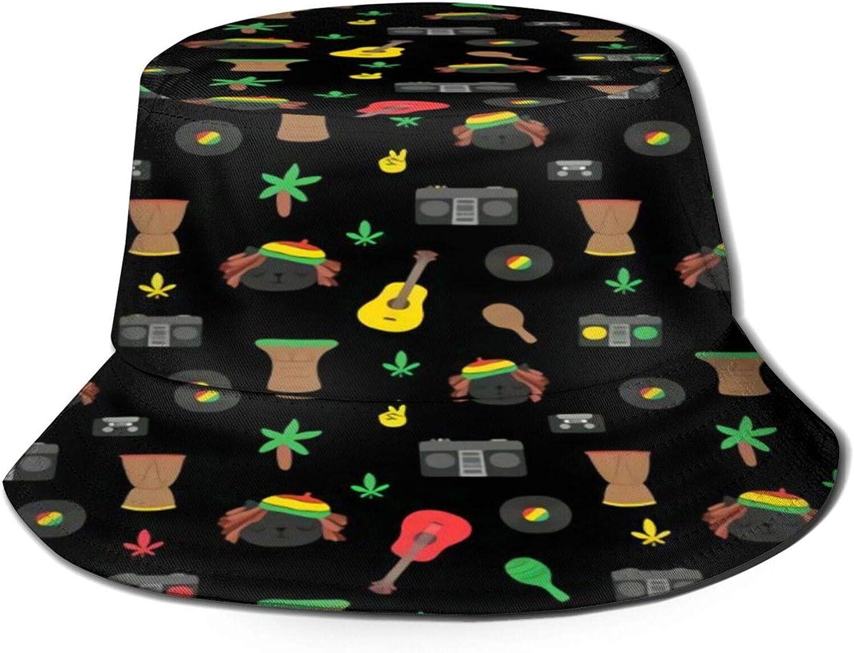 Rasta Cats Max 47% OFF Bucket Hat Unisex Sun outlet Packable Summer H Fisherman