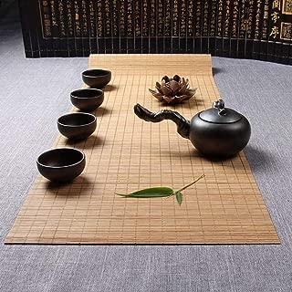 AGONG Handmade Natural Bamboo Sticks Tablemat Decor Kungfu Tea Set Slat Mat Placemat Tea Table Runner