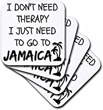 3dRose I Dont Need Therapy I Just Need to Go to Jamaica - Ceramic Tile Coasters, Set of 4 (CST_220094_3)