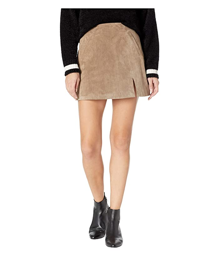 Blank NYC Suede Skirt w/ Side Slit (French Taupe) Women