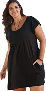 Swimsuits For All Women's Plus Size Box-Pleat Cover Up