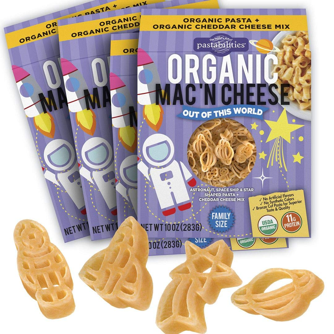 Pastabilities Organic Kids Space Shaped Mac and Cheese, Fun Out