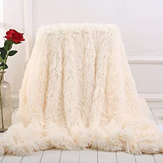 MYRU Plush Super Soft Blanket Bedding Sofa Cover Furry Fuzzy Fur Warm Throw Qulit Cozy Couch Blanket for Winter (51