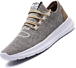 Vamtic Men's Sneakers Fashion Minimalist Lightweight Breathable Athletic Running Walking Shoes Slip-On for Tennis Gym