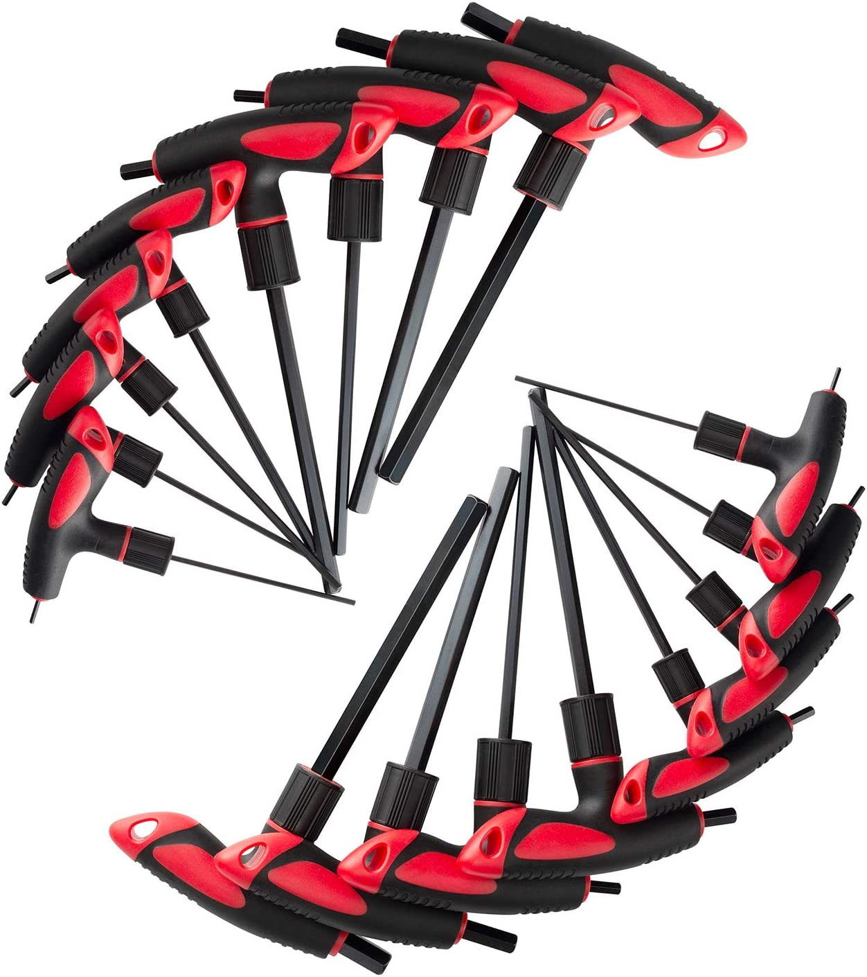 Lichamp Standard Thandle Tee Handle Allen Hex Key Set