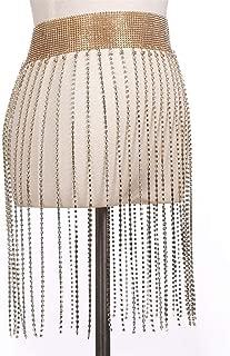 Nightclub Party Body Chain Jewelry Bikini Waist Belly Beach Harness Slave Necklace Women (Color : Gold, Size : Free size)
