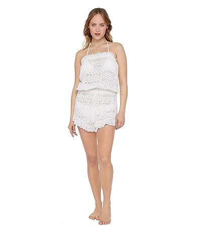 Polo Ralph Lauren Eyelet Ruffle Romper (White) Women