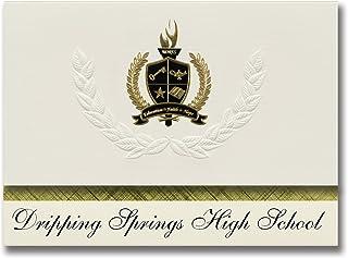Signature Ankündigungen Dripping Springs High School (Dripping Springs, TX) Graduation Ankündigungen, Presidential Elite Pack 25 mit Gold & Schwarz Metallic Folie Dichtung B078VCZM6B  Ausgezeichnete Qualität