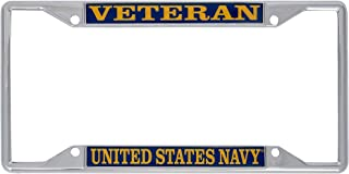 US Navy Veteran License Plate Frame for Front Back of Car Officially Licensed United States