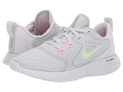 Nike Kids Legend React (Little Kid) (Pure Platinum/Barely Volt/Platinum Tint) Girls Shoes