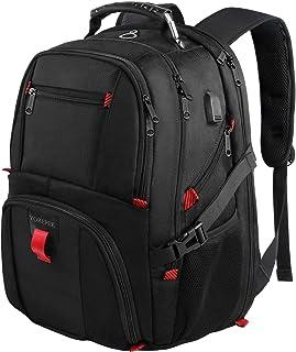 حقيبة ظهر YOREPEK للسفر للكمبيوتر المحمول، حقيبة ظهر مدرسية كبيرة جدًا للرجال والنساء مع منفذ شحن USB، حقيبة ظهر للكمبيوتر...