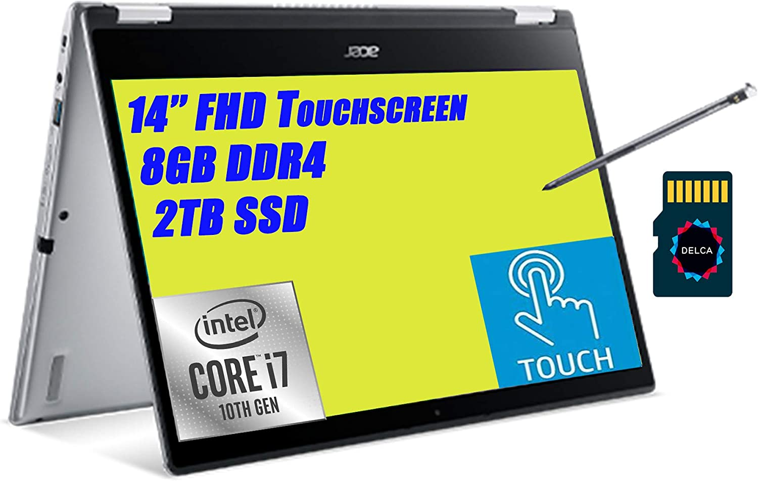 Acer Spin 3 14 Premium Albuquerque Mall 2 in Touchscree Gifts 1 I IPS Laptop 14