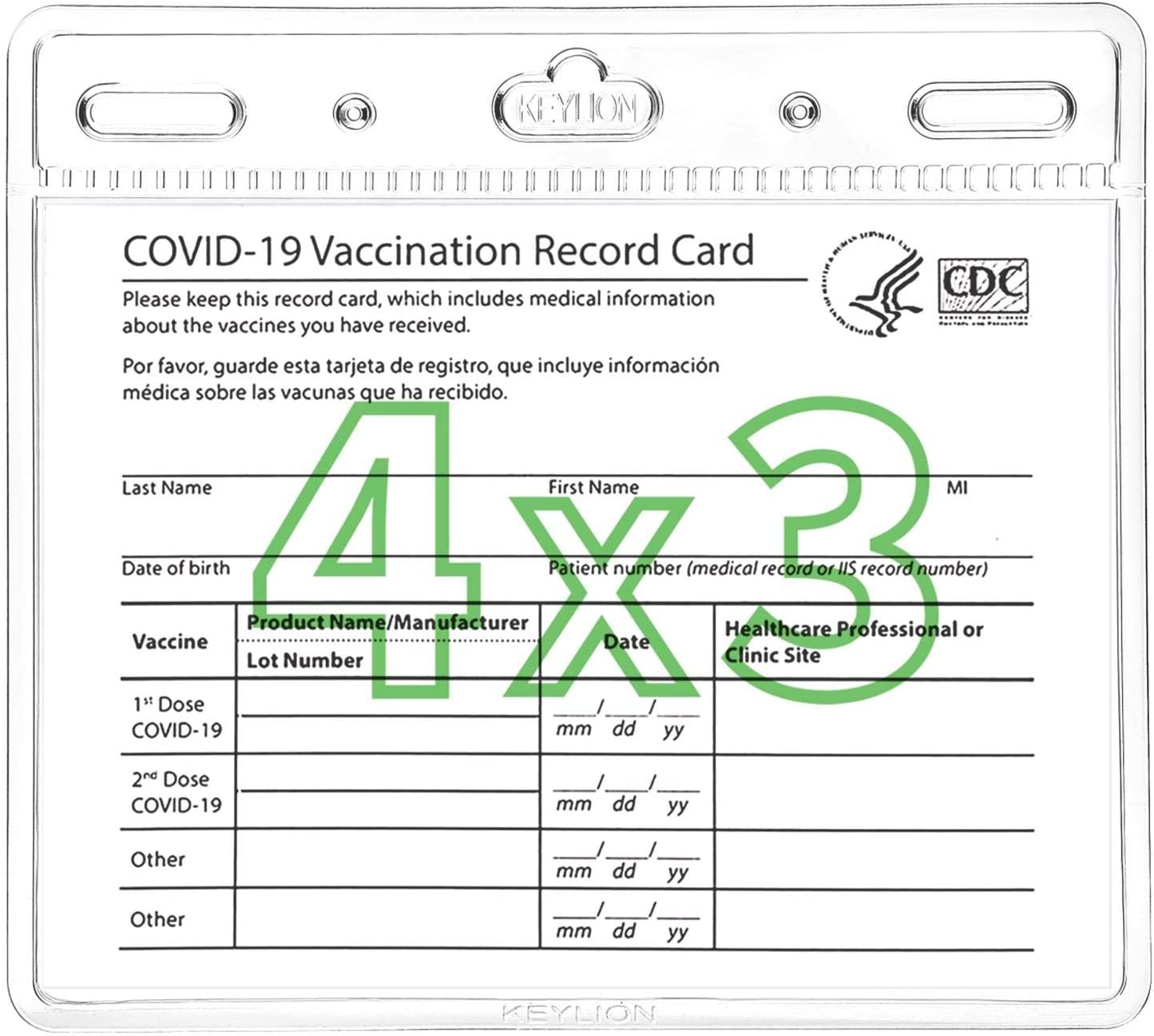 KEYLION 10 Pack Vaccination Card Protector Immunizat CDC Our shop most popular Deluxe in 4x3