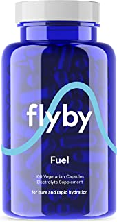 Flyby Electrolyte Replacement Tablets – Pills & Capsules for Rapid Rehydration, Recovery, Keto & Cramps – Salts, Magnesium, Potassium, Sodium & Zinc – Paleo, Keto & Vegan Friendly – 100 Capsules