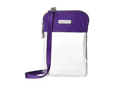 Baggallini Legacy Stadium Bags Clear Bryant Crossbody (Royal Purple) Cross Body Handbags