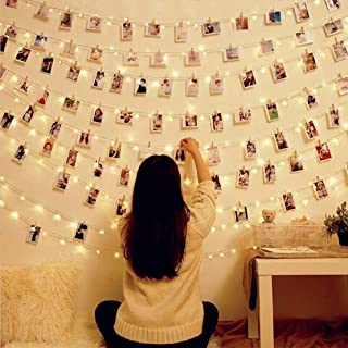 30 LED Photo Clips String Lights Battery Operated Indoor Fairy String Lights with Clips for Hanging Pictures,Cards,Artwork...
