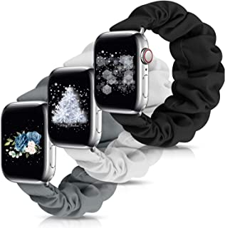 OWUSHEE OWUSHEE Scrunchie Watch Band Compatible with Apple Watch Band 38mm 40mm 42mm 44mm Scrunchy Elastic Band for iWatch...