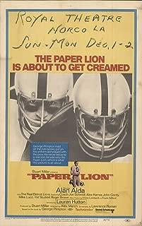 Paper Lion 1968 Authentic 14