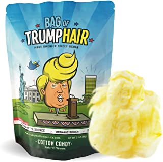 BAd Thread Bag of Trump Hair  3oz of Cotton Candy (Organic Sugar, Natural Flavoring, Gluten Free)   Funny Bipartisan Donald Trump Gag Gift for Friends, Moms, Dads, Grads, Birthday Boys or Girls